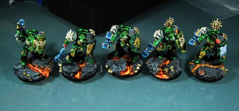 Salamanders, Space Marines, Terminator Assault Squad, Warhammer 40,000