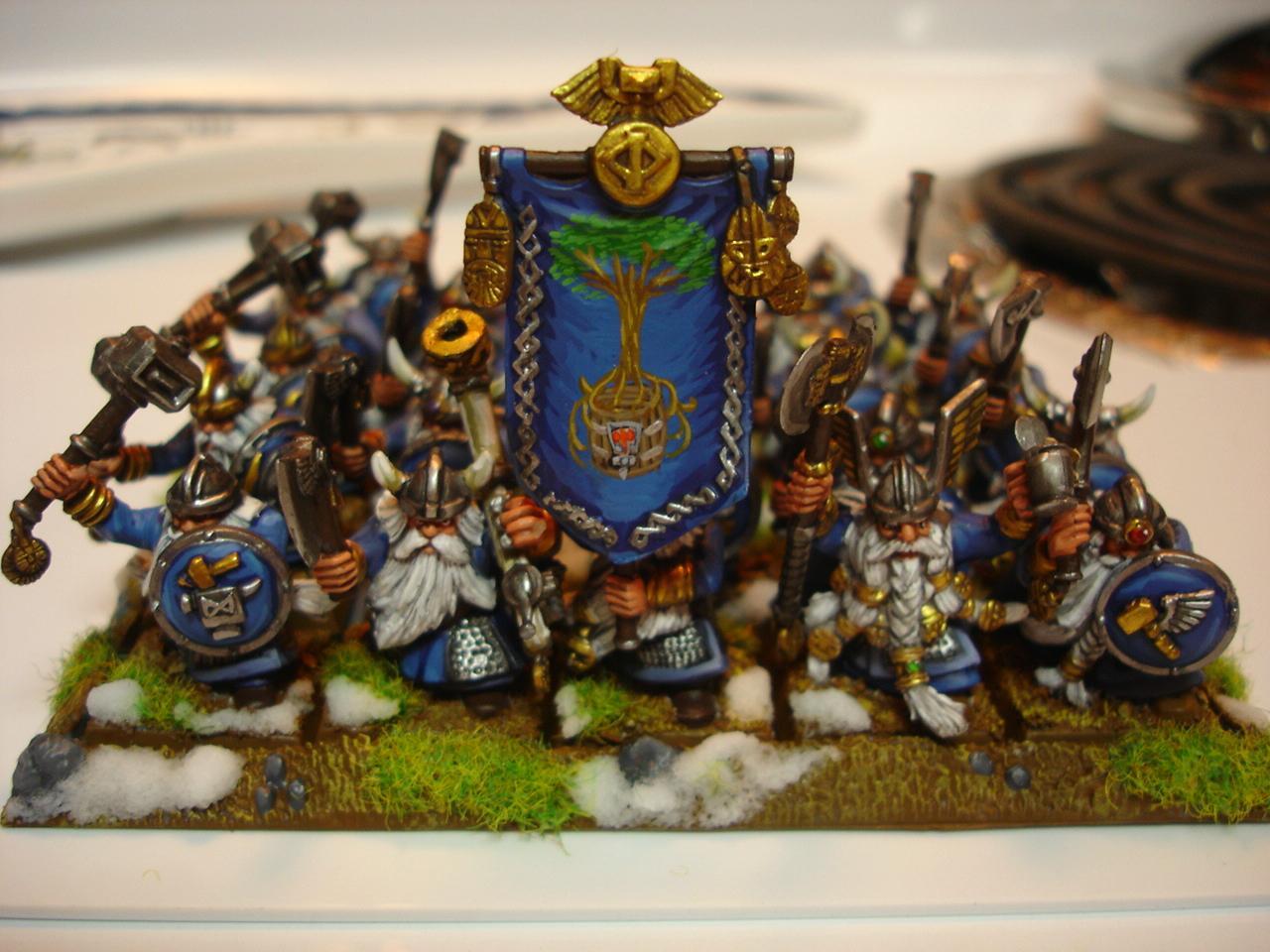 Banner, Dwarves, Freehand, Warhammer Fantasy