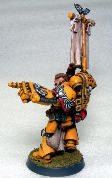 Diy Chapter, Space Marines, Veteran Sargeant, Warhammer 40,000, Yellow