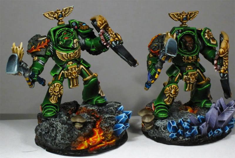 Kick Ass Painting, Lava Bases, Salamanders, Terminator Armor