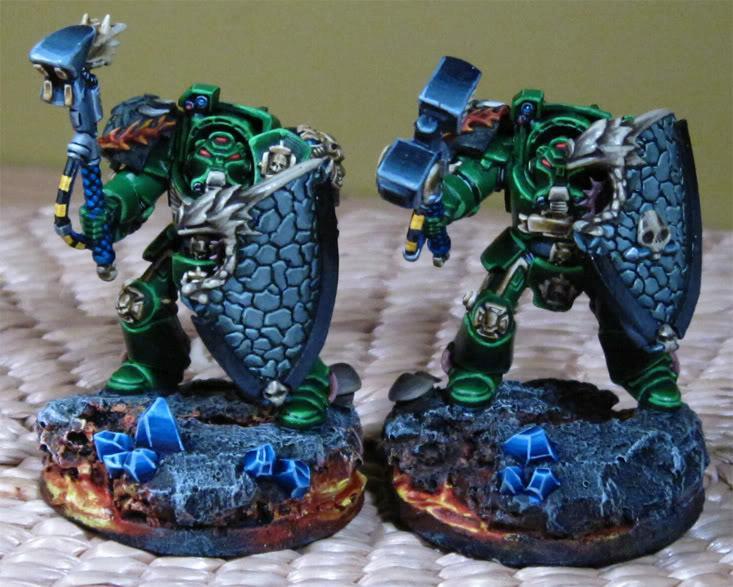 Salamanders, Space Marines, Terminator Armor, Warhammer 40,000