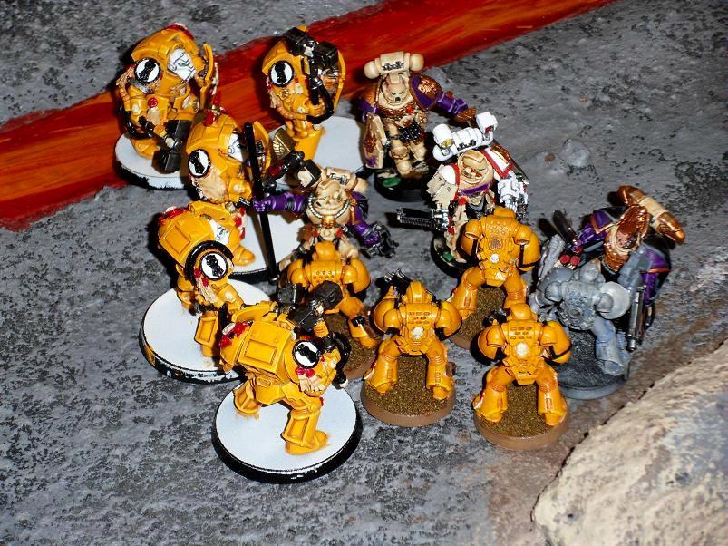 Assault Terminators VS Command Squad