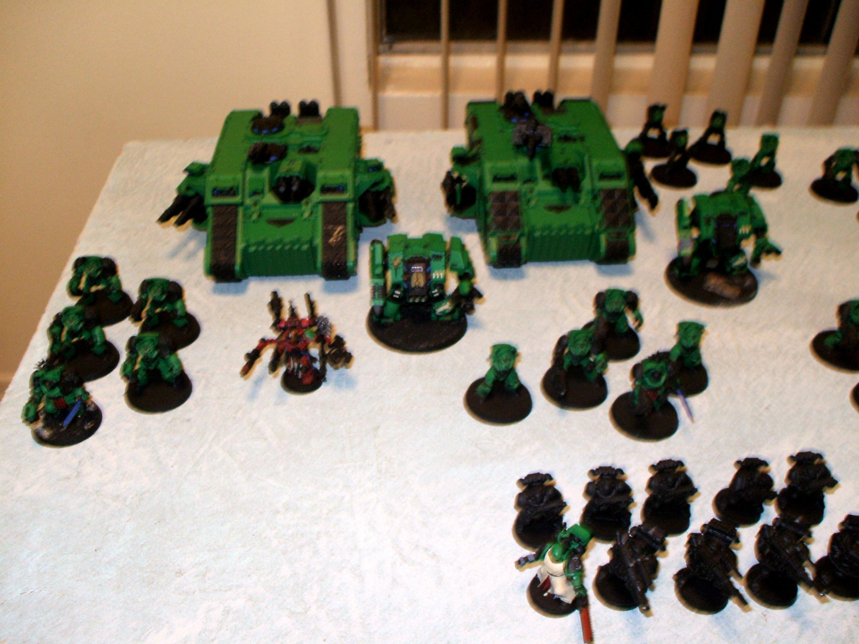 Army, Chaos, Chaos Space Marines, Fabius Bile, Land Raider, Terminator Armor, Work In Progress