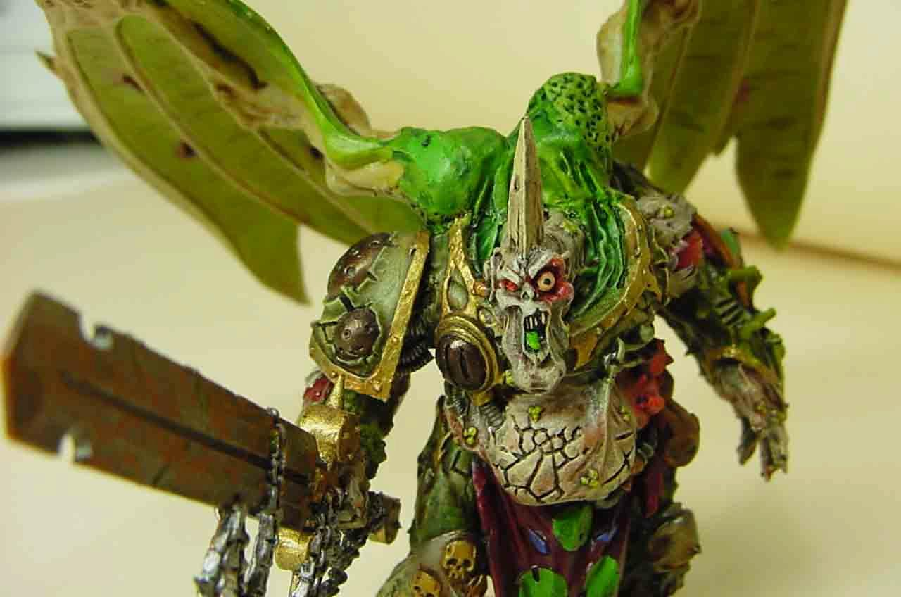 Daemon Nurgle Wings Sword Gross Pustulent