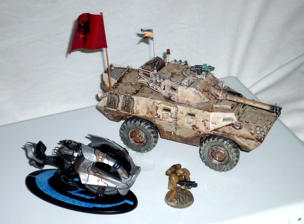 Halo 3 Chopper compared with Beaky SM and armoured car