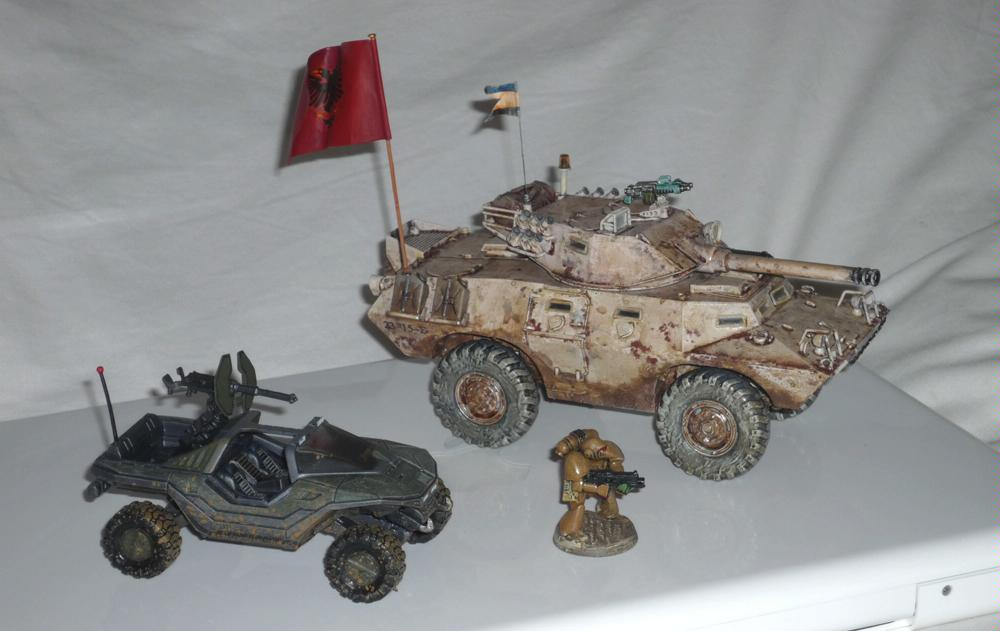 Halo 3 Warthog compared with Beaky SM and armoured car