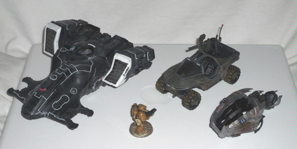 Halo 3 Chopper and Warthog compared with Beaky SM and Hammerhead