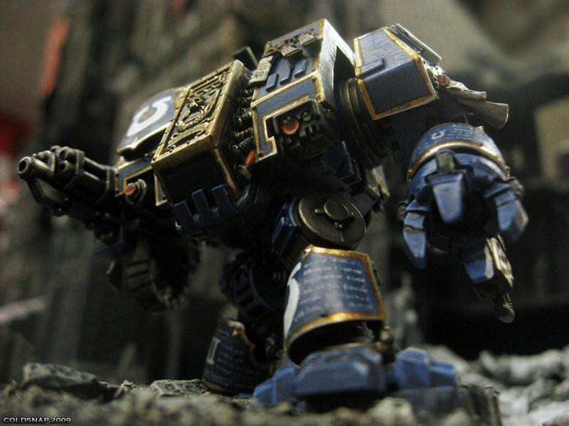 Dreadnought, Photoshop, Space Marines, Ultramarines