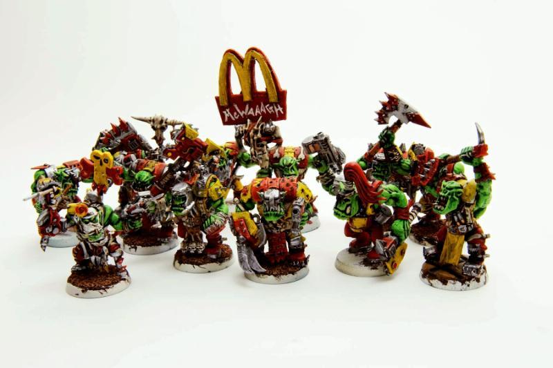 Corporate, Crazy, Humor, Mascot, Mcdonalds, Nob, Nutjob, Orks, Warhammer 40,000