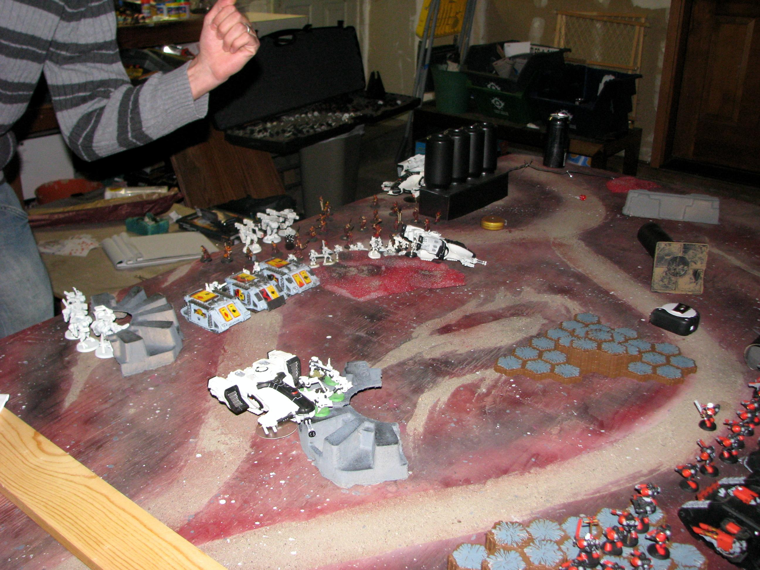 Turn 0 - Tau Deploy and Scout Moves