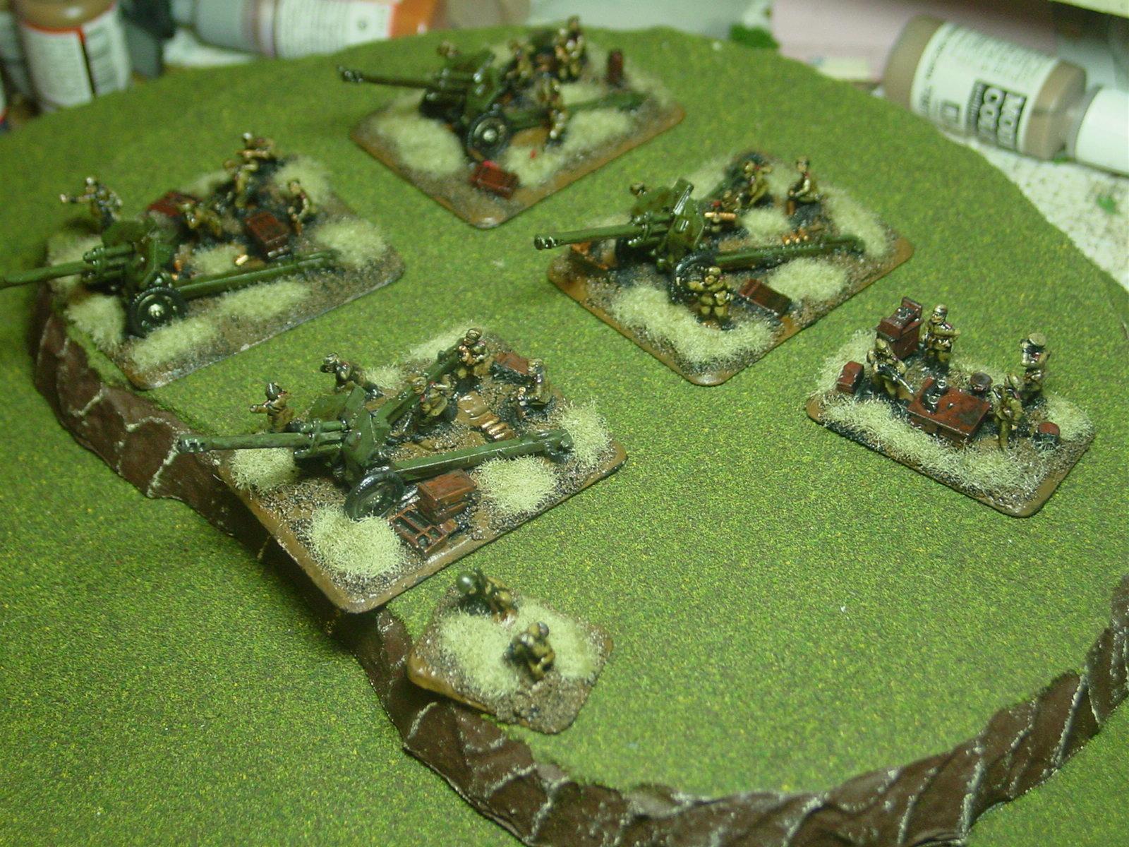 15mm, Artillery, Flames Of War, Russians, Soviet, World War 2