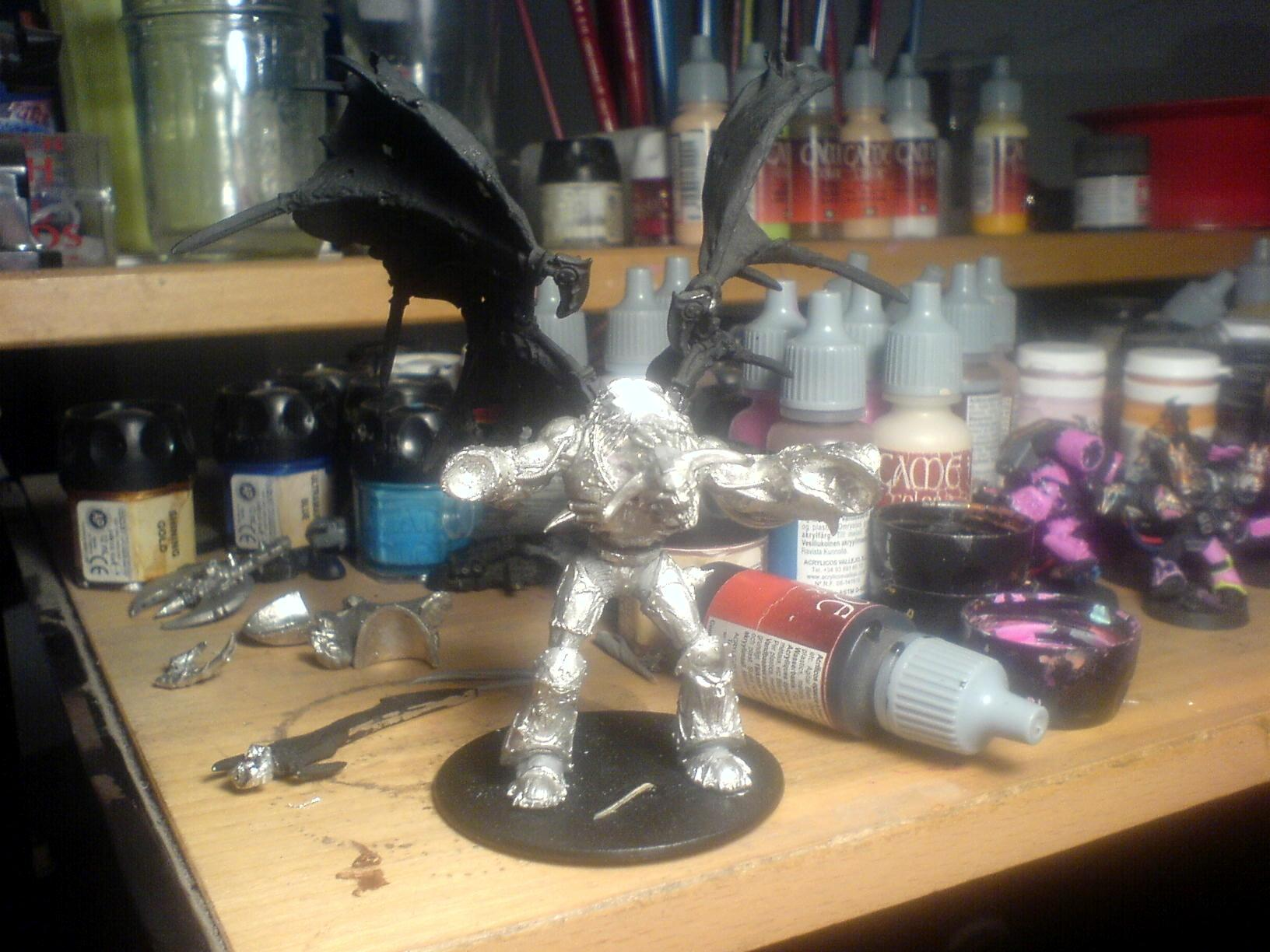 Chaos, Daemon Prince, Warhammer 40,000, Winged, Work In Progress