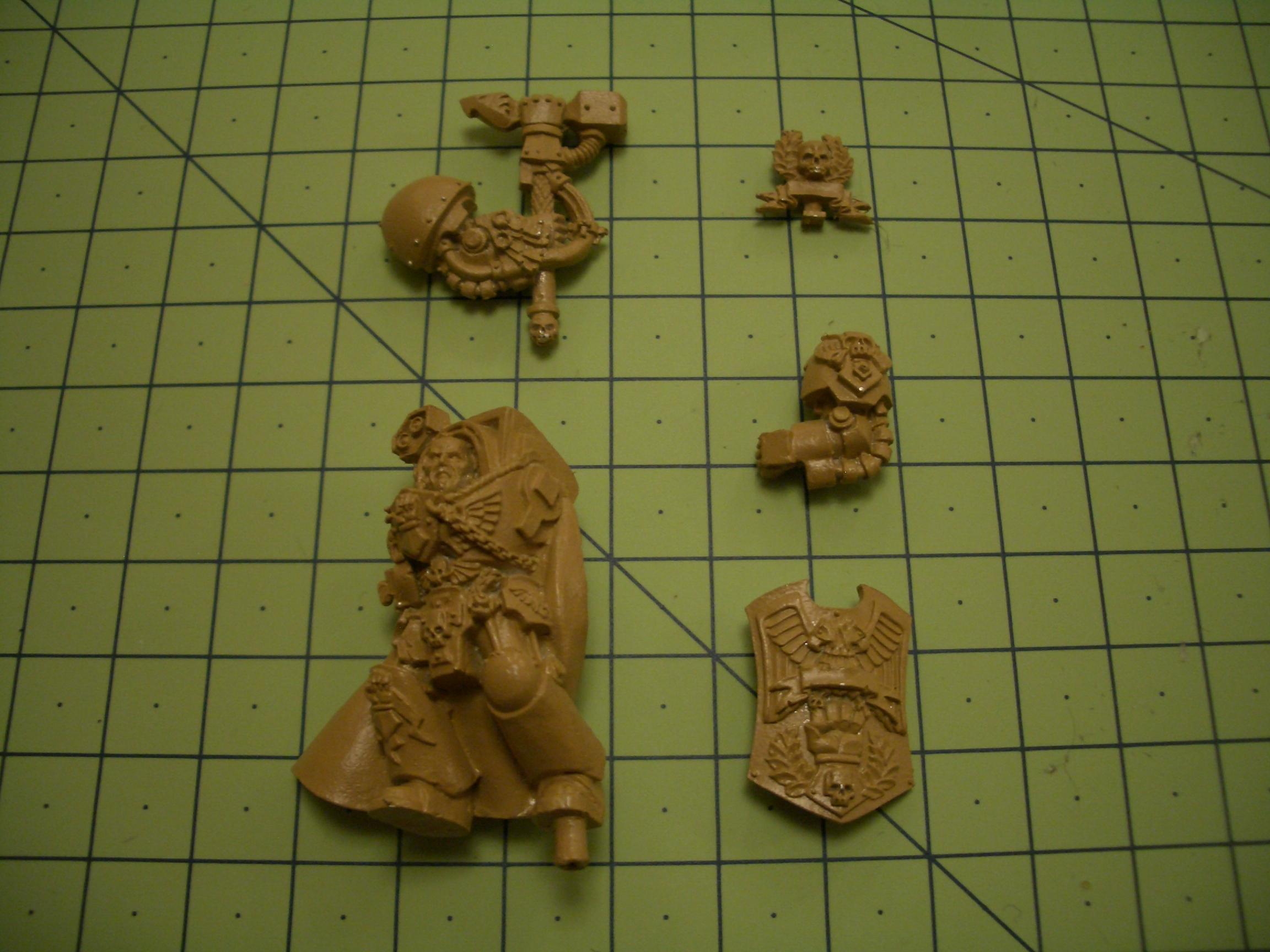 Captain Lysander, Dorn, Imperial Fists, Warhammer 40,000, Work In Progress, Yellow Space Marines