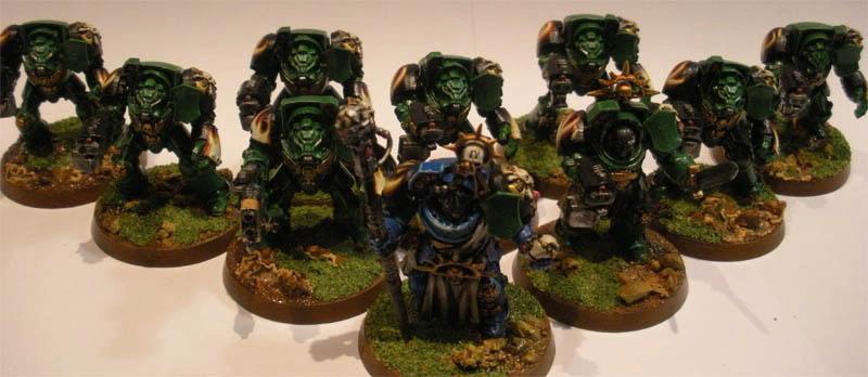 Librarian, Salamanders, Space Marines, Terminator Armor