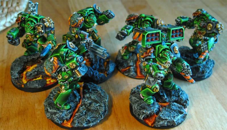 Lava, Salamanders, Terminator Armor, Warhammer 40,000