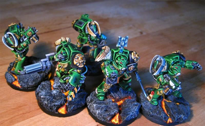 Lava, Salamanders, Space Marines, Terminator Armor, Warhammer 40,000