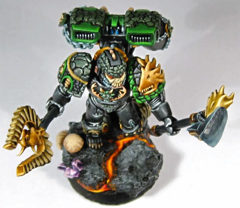 Chaplain, Salamanders, Space Marines, Warhammer 40,000
