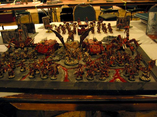Army, Chaos, Chaos Space Marines, Display Board, Khorne