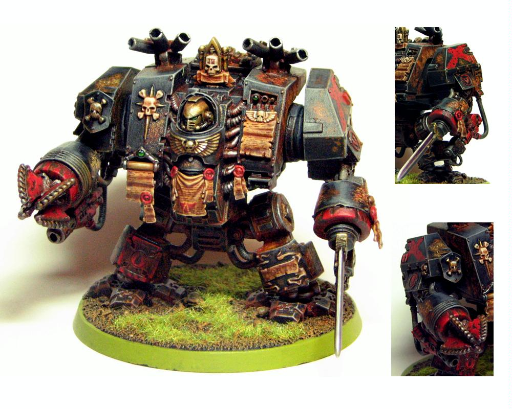 Dakka Painting Challenge, Death Company, Dreadnought, Nitty Gritty Armor