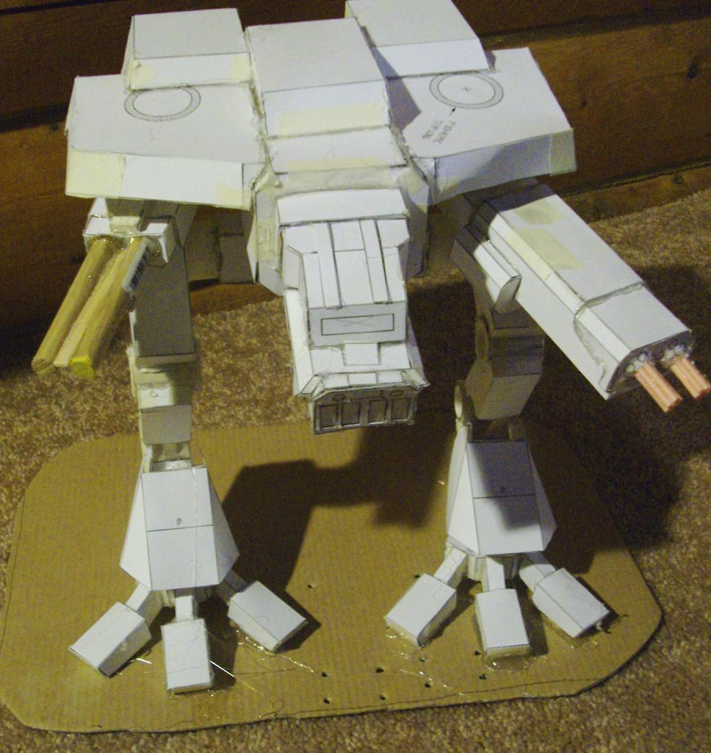 Warhound Titan from Cardstock