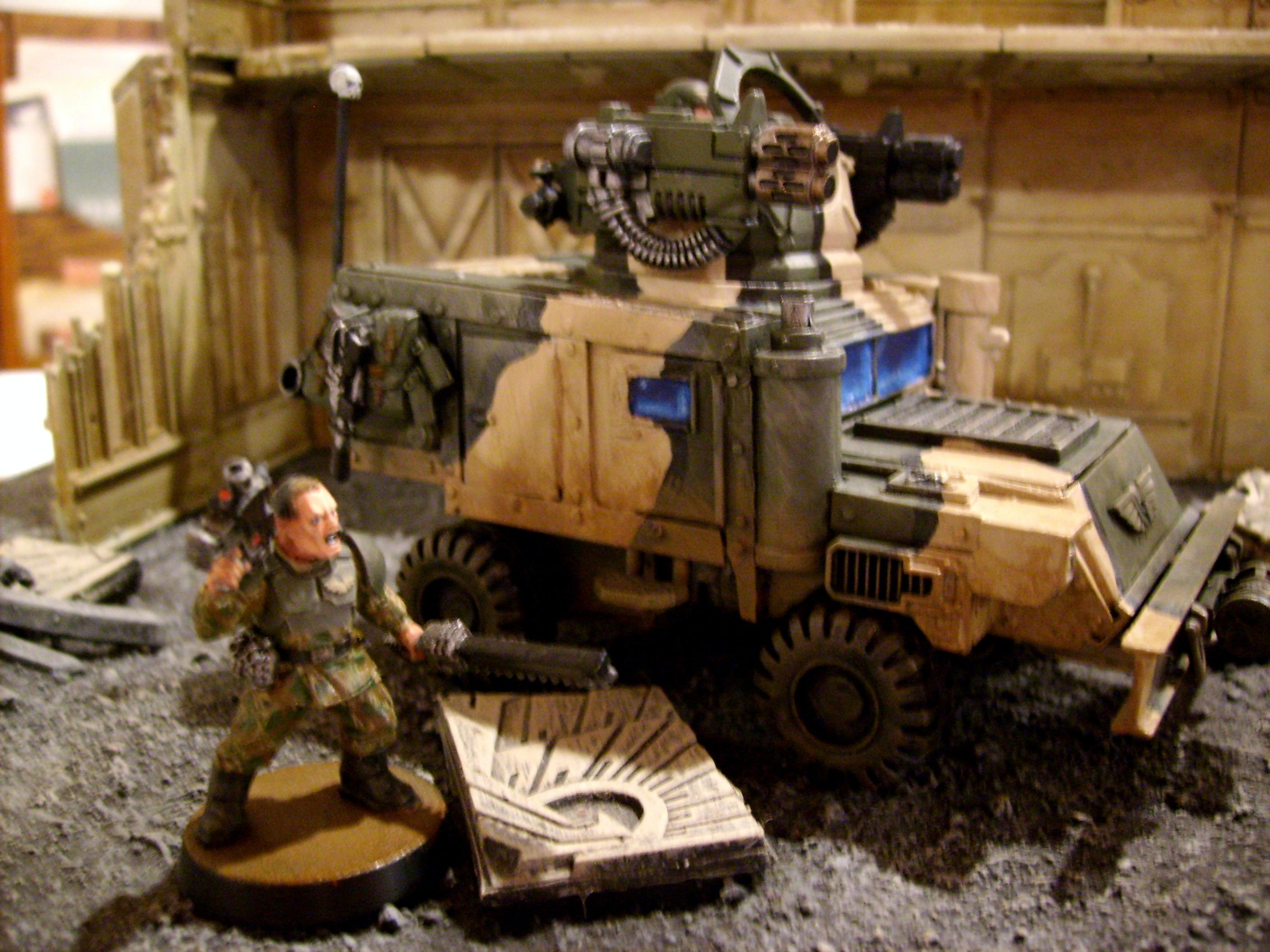 Hummer, Immolator, Imperial Guard, Looted, Ork Trukk, Scratch Build