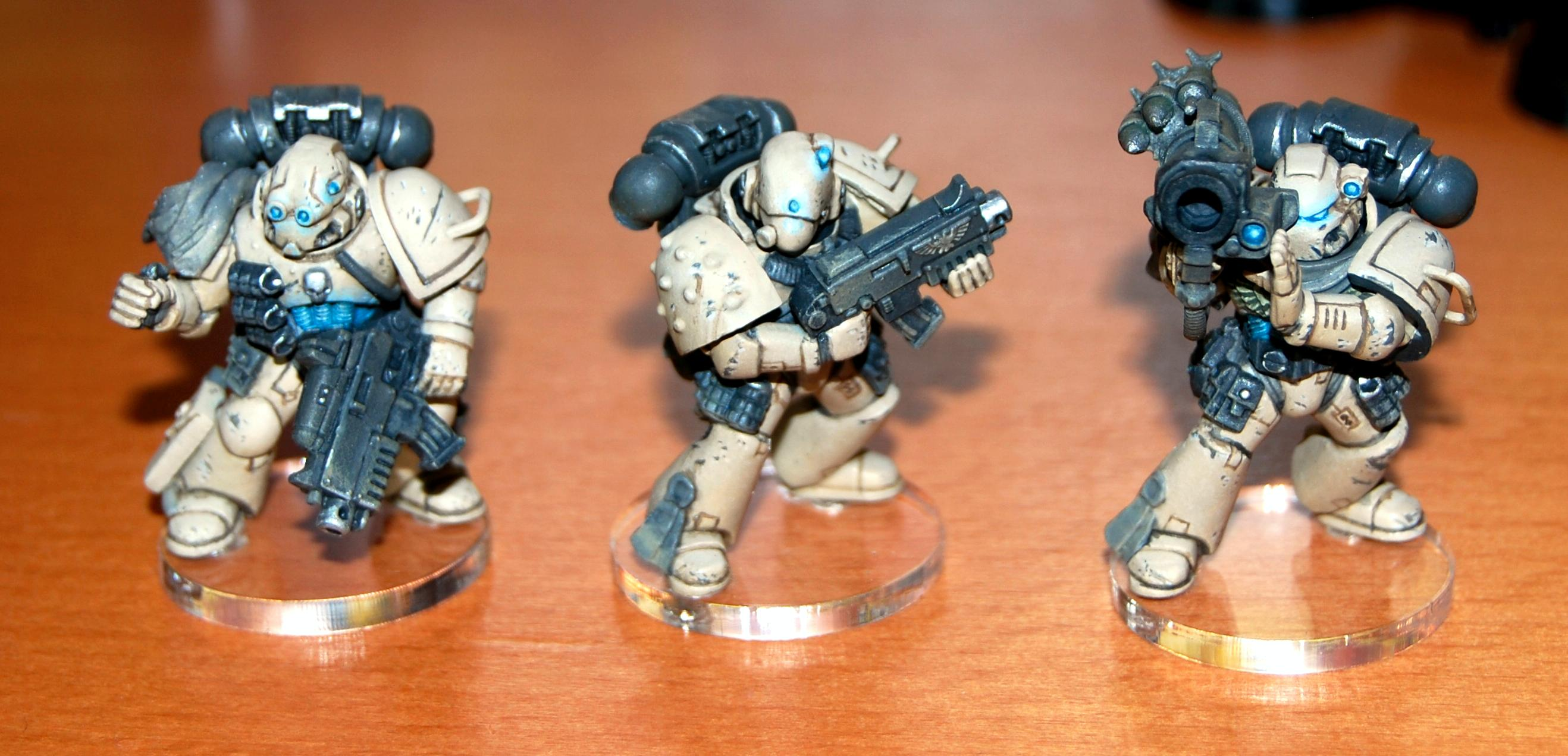 Object Source Lighting, Space Marines, Warhammer 40,000, Weathered