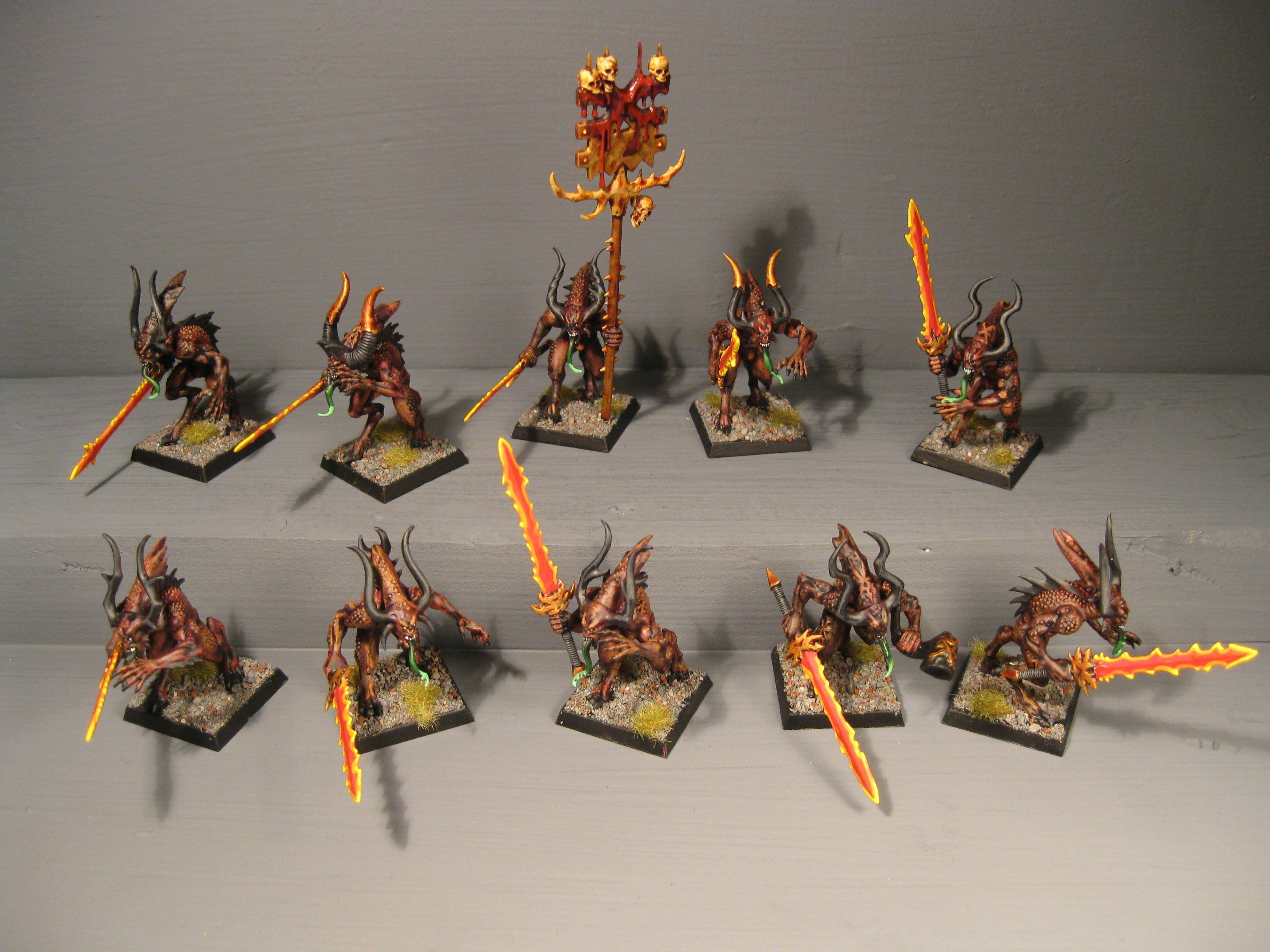 Chaos, Chaos Wariors, Khorne, Pro Painted, Rpg, Warhammer Fantasy