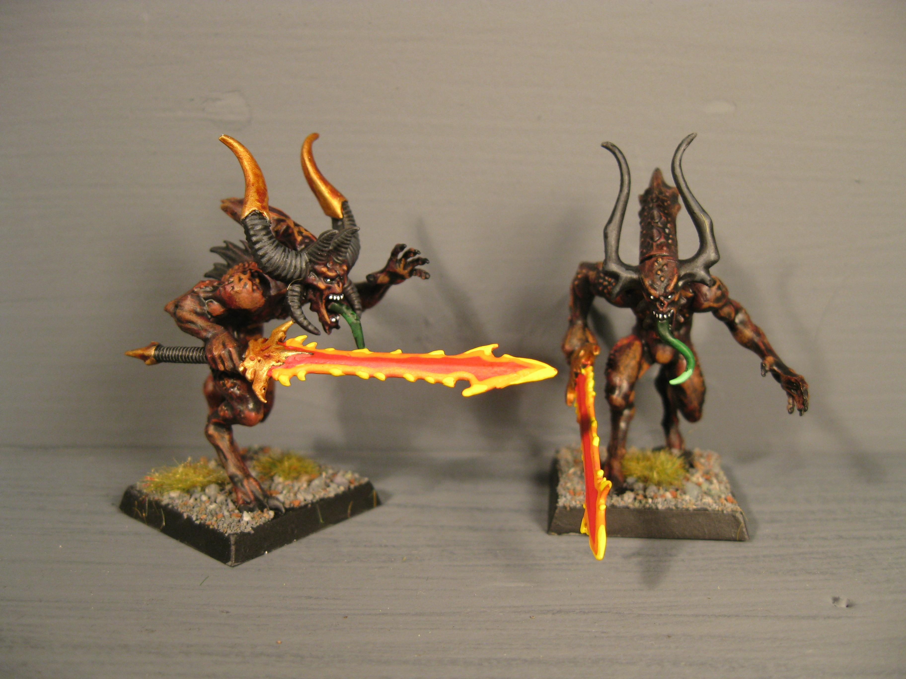 Bloodletters, Chaos, Chaos Wariors, Khorne, Pro Painted, Rpg, Warhammer Fantasy