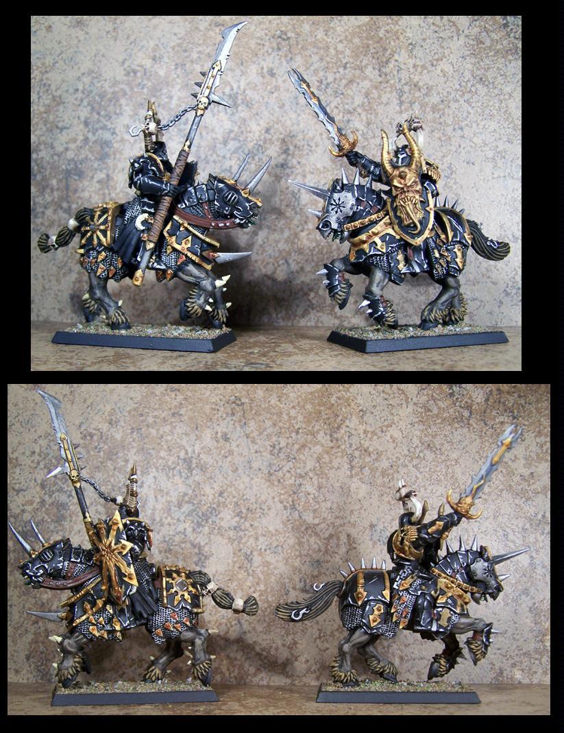 Chaos, Chaos Wariors, Knights, Pro Painted, Rpg, Warhammer Fantasy