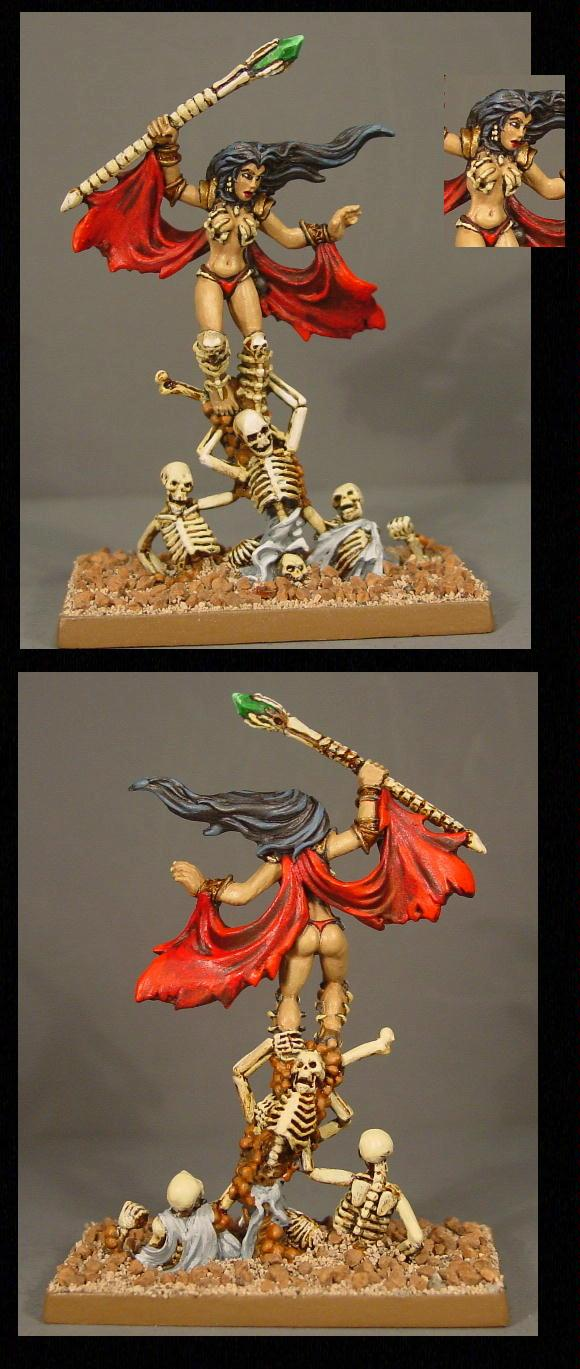 Necromancer, Pathfinders, Pro Painted, Reaper, Reaper Miniatures, Reaper Minis, Rpg, Sexy, Skeletons, Sorceress, Warhammer Fantasy