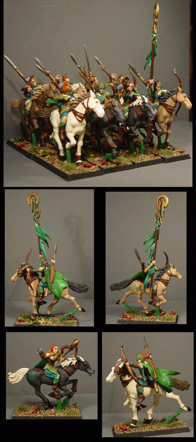 Elves, Glade, Pro Painted, Rider, Rpg, Warhammer Fantasy, Wood, Wood Elves