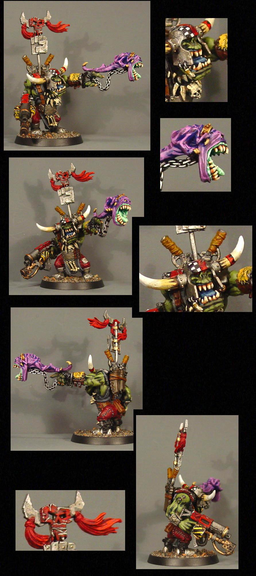 Attack Squig, Orcs, Orks, Warboss, Warhammer 40,000