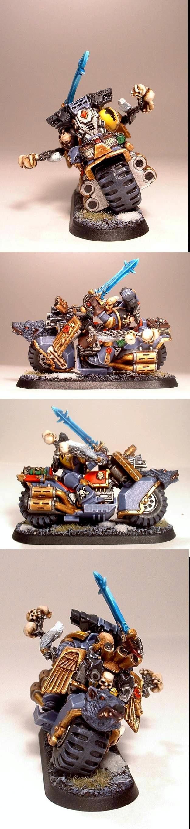Bike, Conversion, Space Marine Bikes, Space Marines, Space Wolves, Swift Claws, Warhammer 40,000, Wolf Guard Battle Leader