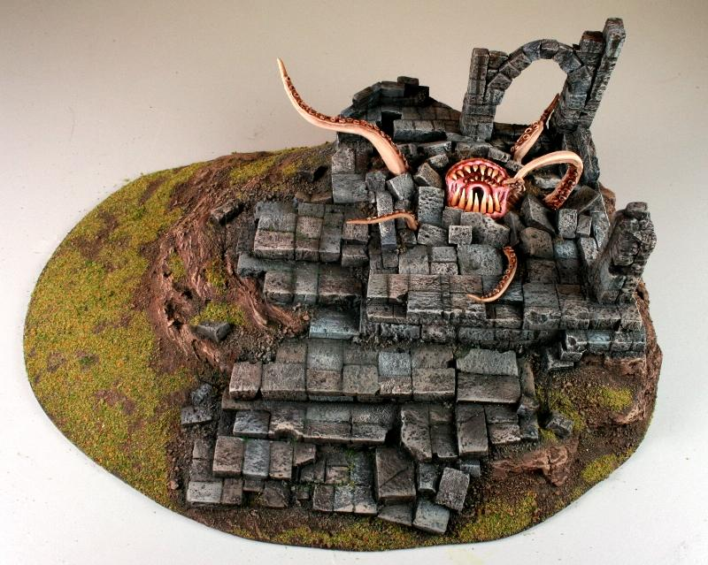 Chaos, Custom, Daemons, Ruins, Scratch Build, Sculpted, Terrain, Warp