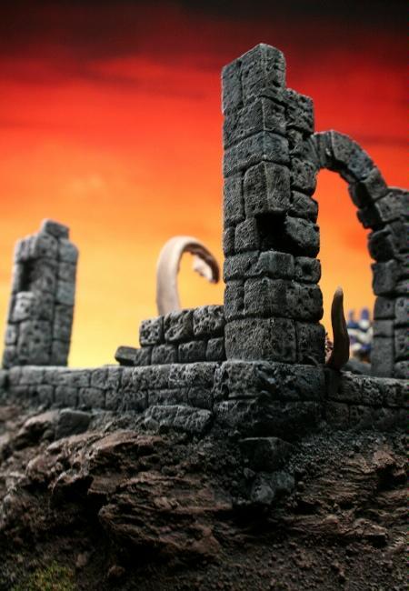 Chaos, Custom, Daemons, Ruins, Scratch Build, Sculpted, Terrain, Warp