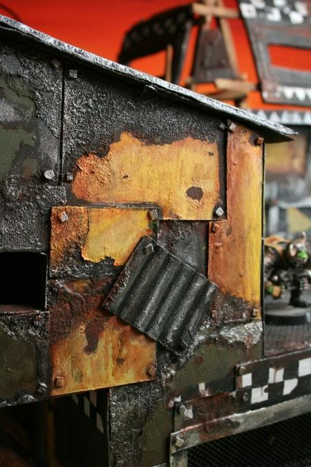 Garage, Mechanic, Mekboy, Orcs, Orks, Rust, Scratch Build, Space Ork, Terrain