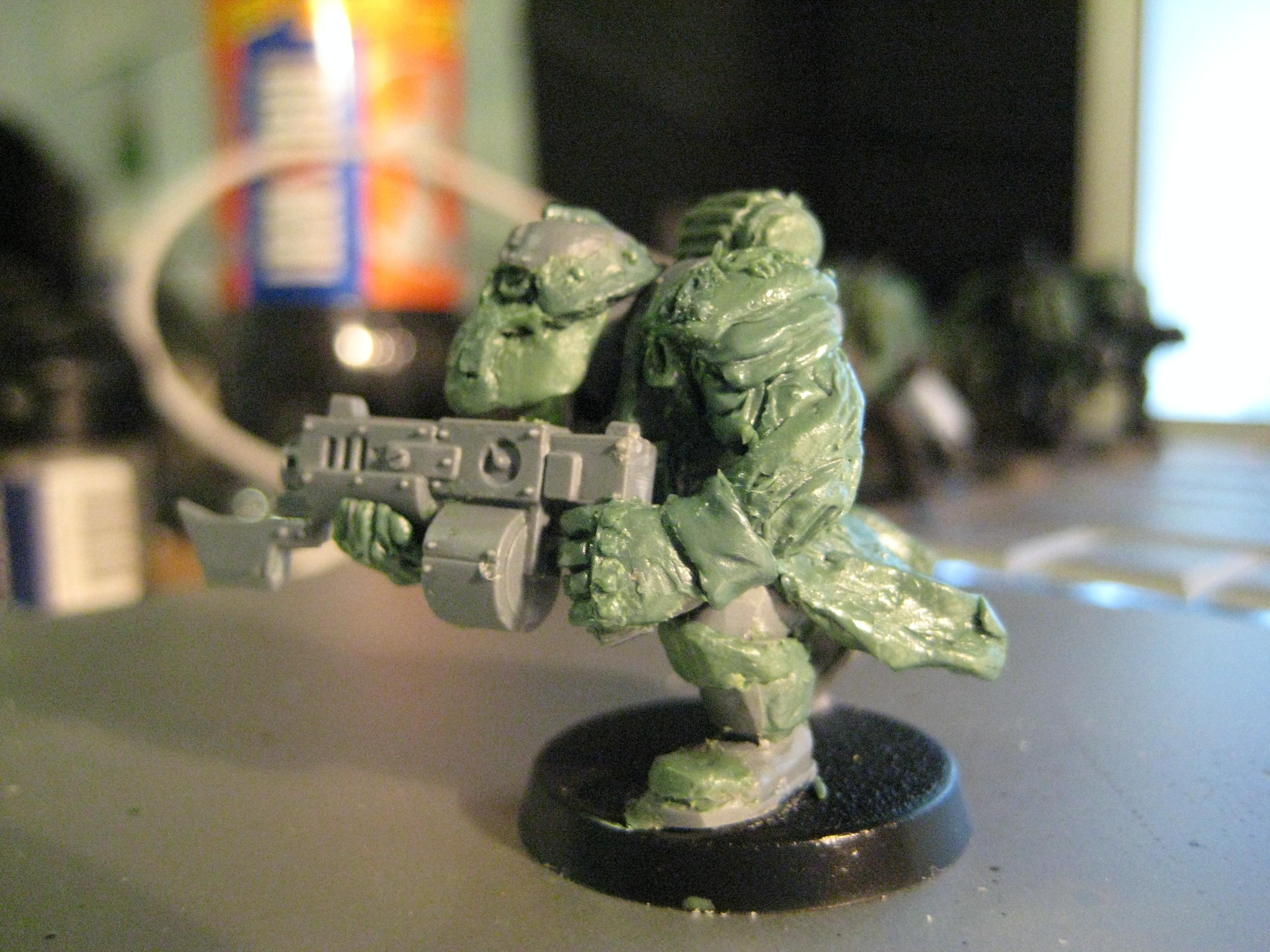 Greenstuff, Sculpting, Warhammer 40,000, Work In Progress
