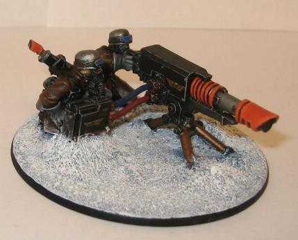 Heavy Weapons Team, Imperial Guard, Lascannon, Snow, Steel Legion, Valhallans, Warhammer 40,000