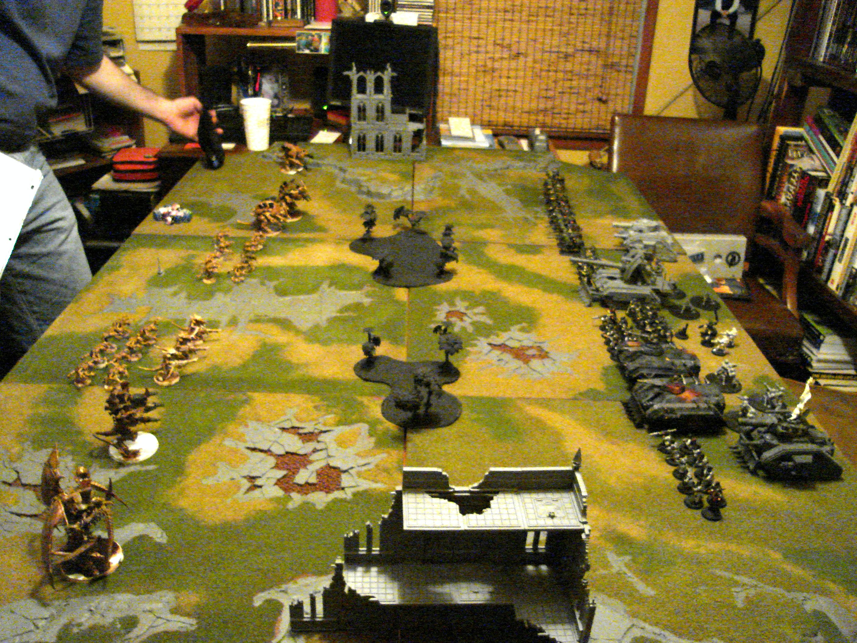 Game, Game Table, Imperial Guard, Tyranids