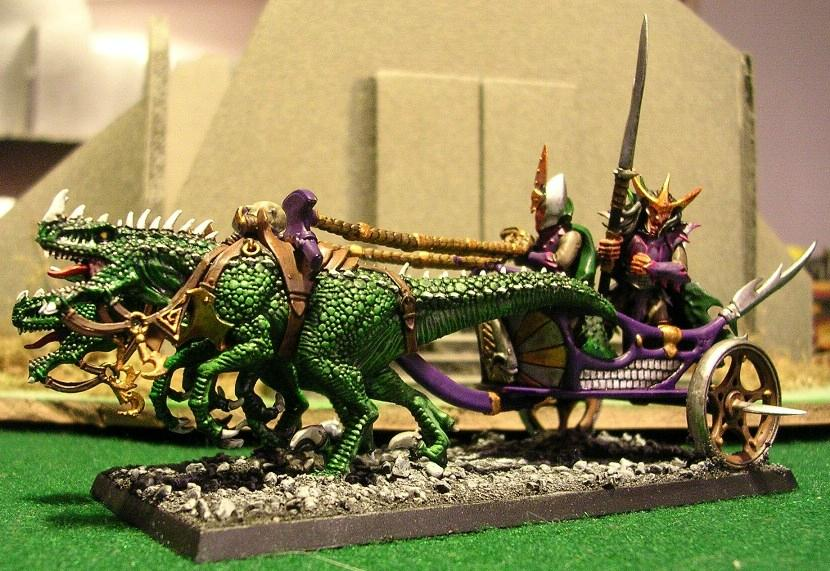 Cold Ones, Dark Elves Chariot, Dark Elves Monsters
