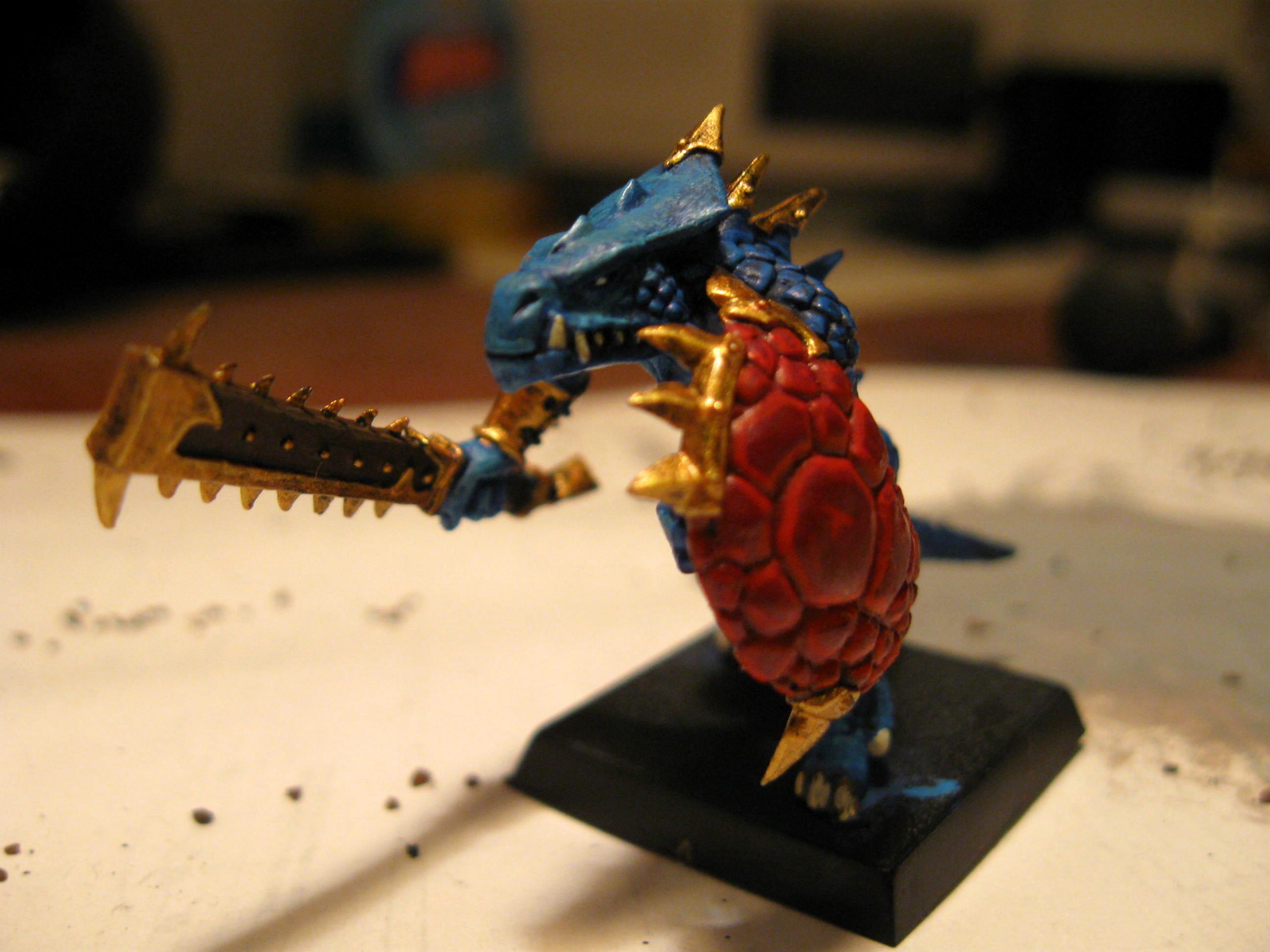 First Fantasy Model, Lizardmen, Saurus Warriors, Warhammer Fantasy