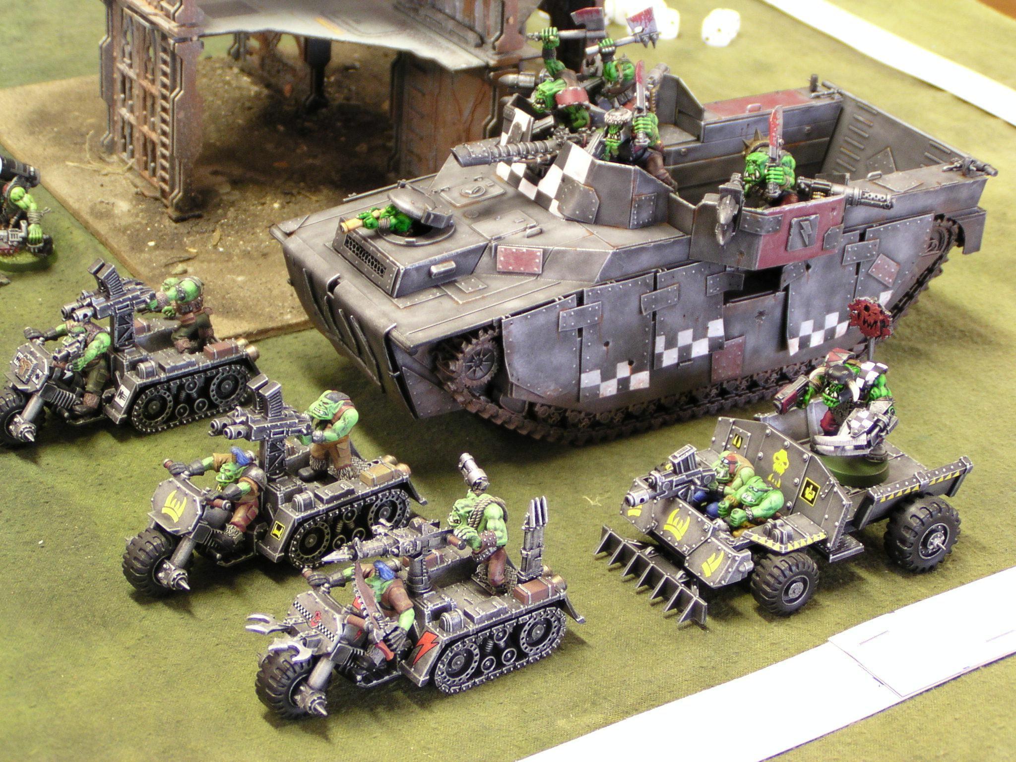 Battlewagon, Conversion, Kitbash, Orks, Vehicle, Warbuggy, Warhammer 40,000, Wartrukk