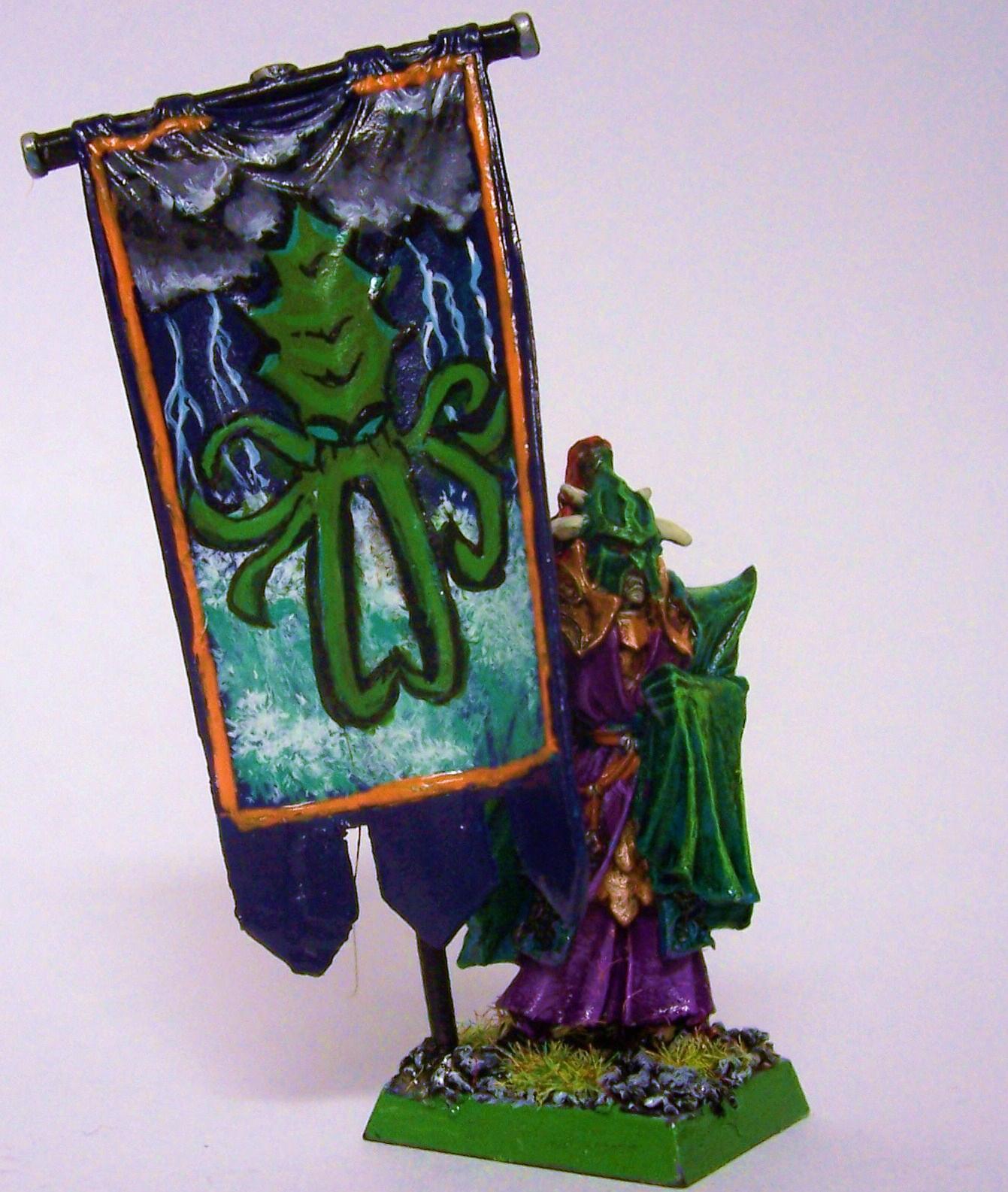 Banner, Dark Elves, Warhammer Fantasy