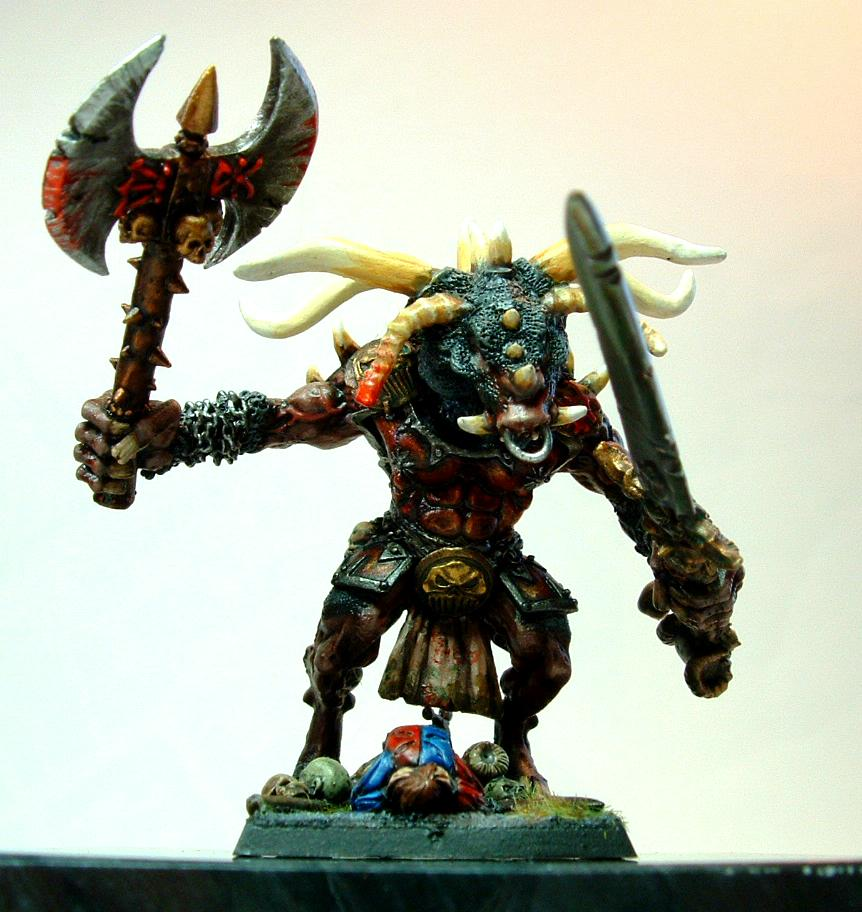 Khorne, Minotaur, Scratch Build