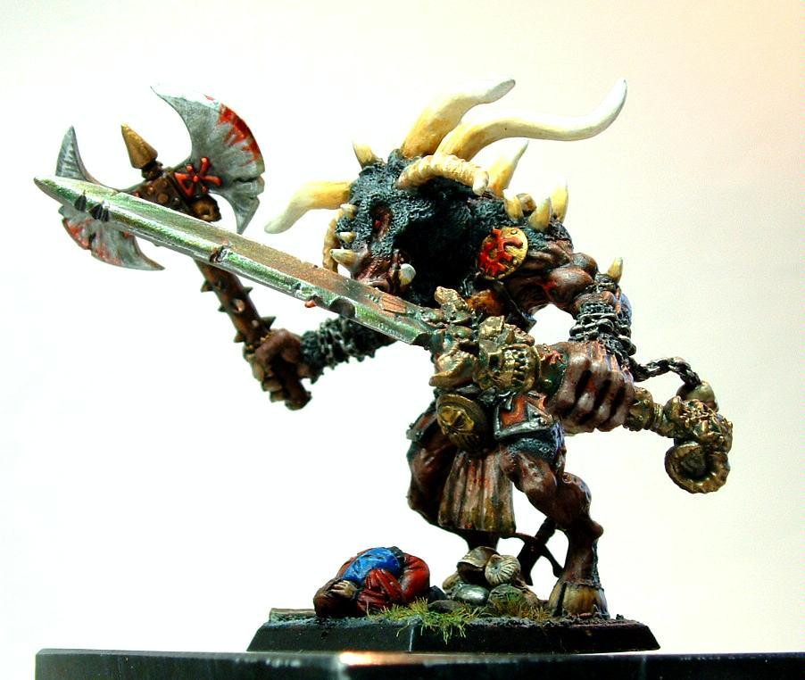Greater Deamon, Khorne, Minotaur, Scratch Build