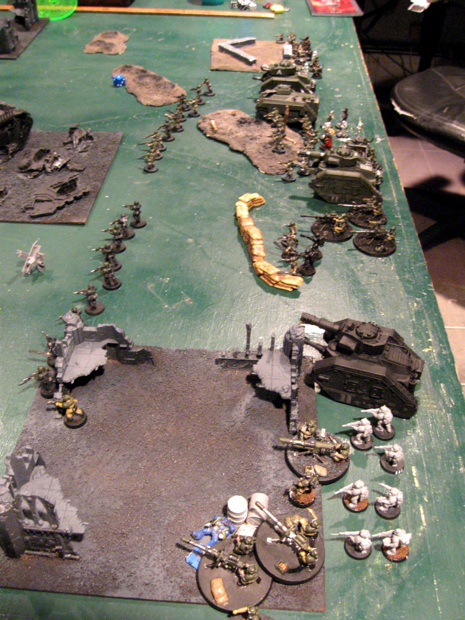 Battle Report, Cadians, Crimson Fists, Imperial Guard, Space Marines