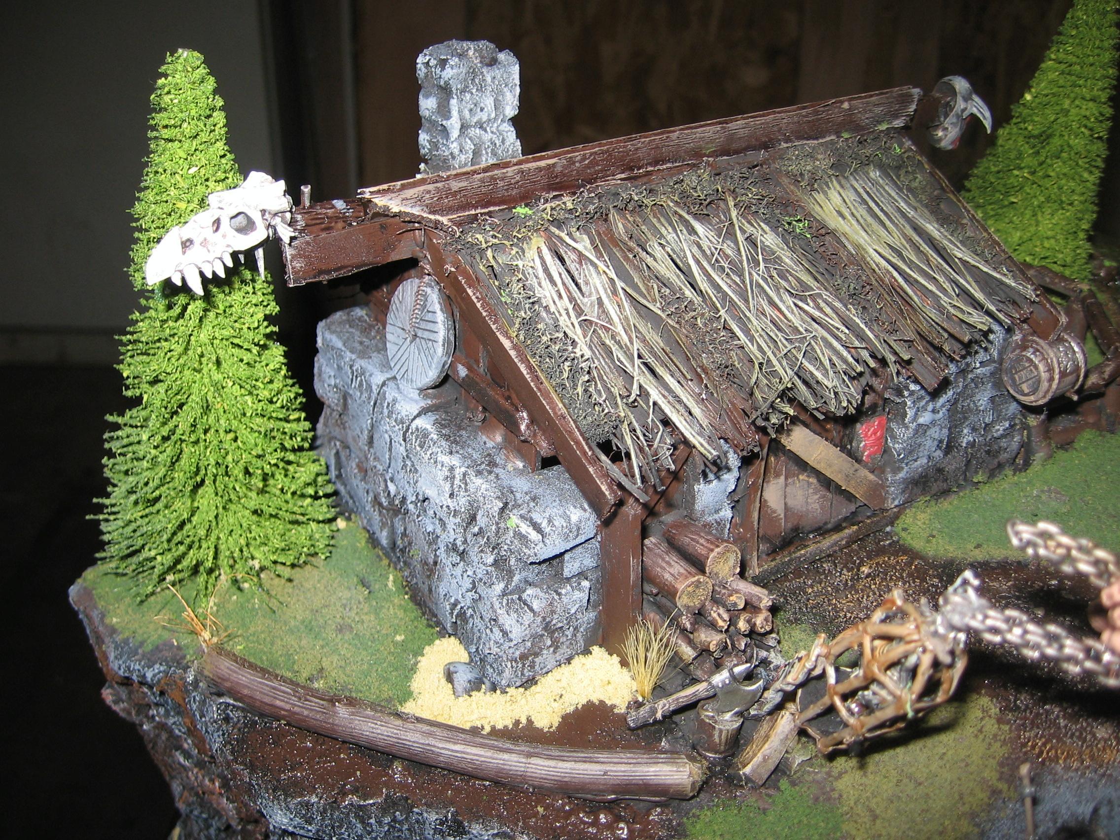 Cottage, Diorama, Giant, Warhammer Fantasy