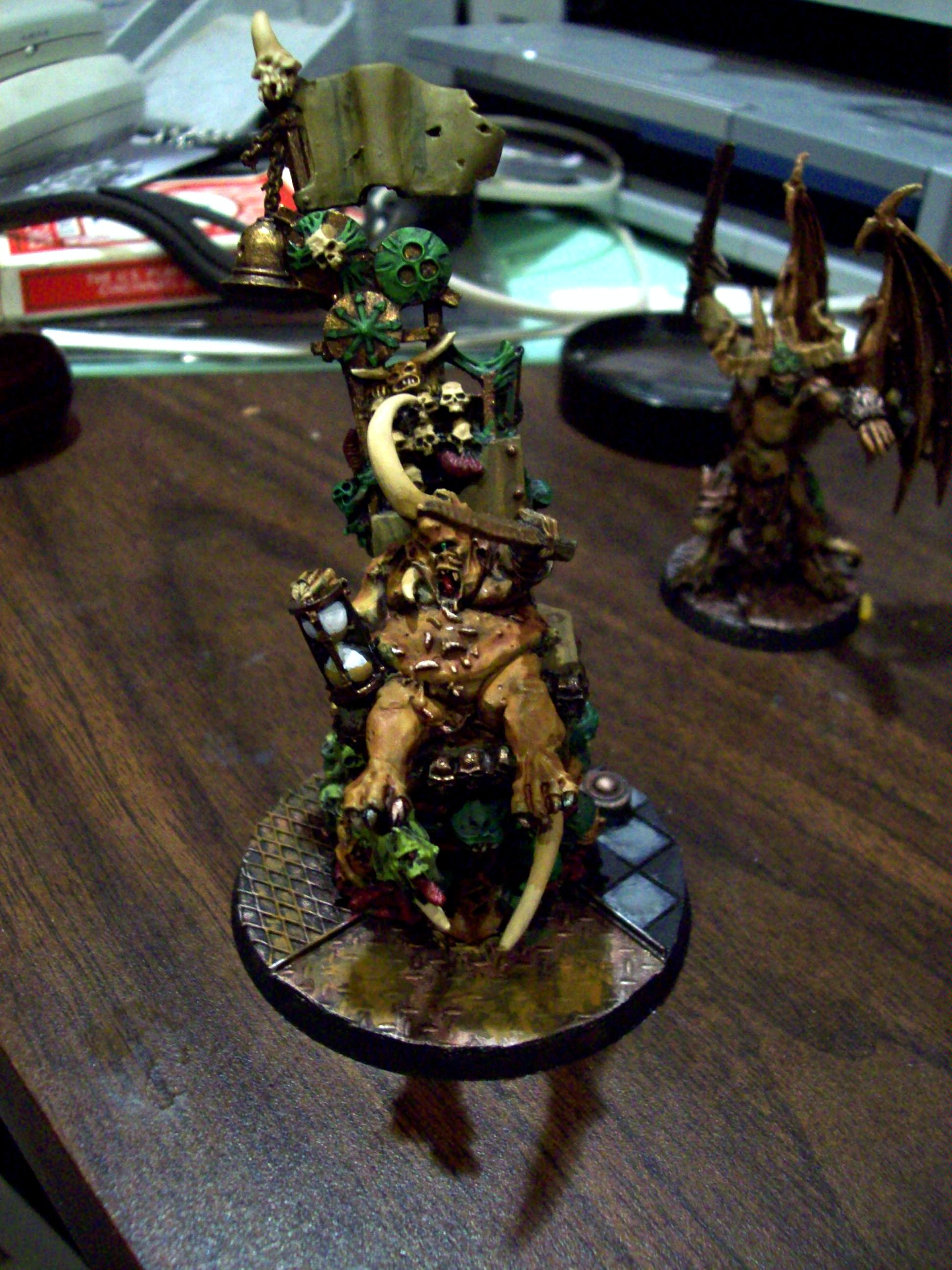 Chaos Daemons, Cheese, Custom Base, Epidemius, Nurgle, Special Character, Warhammer 40,000