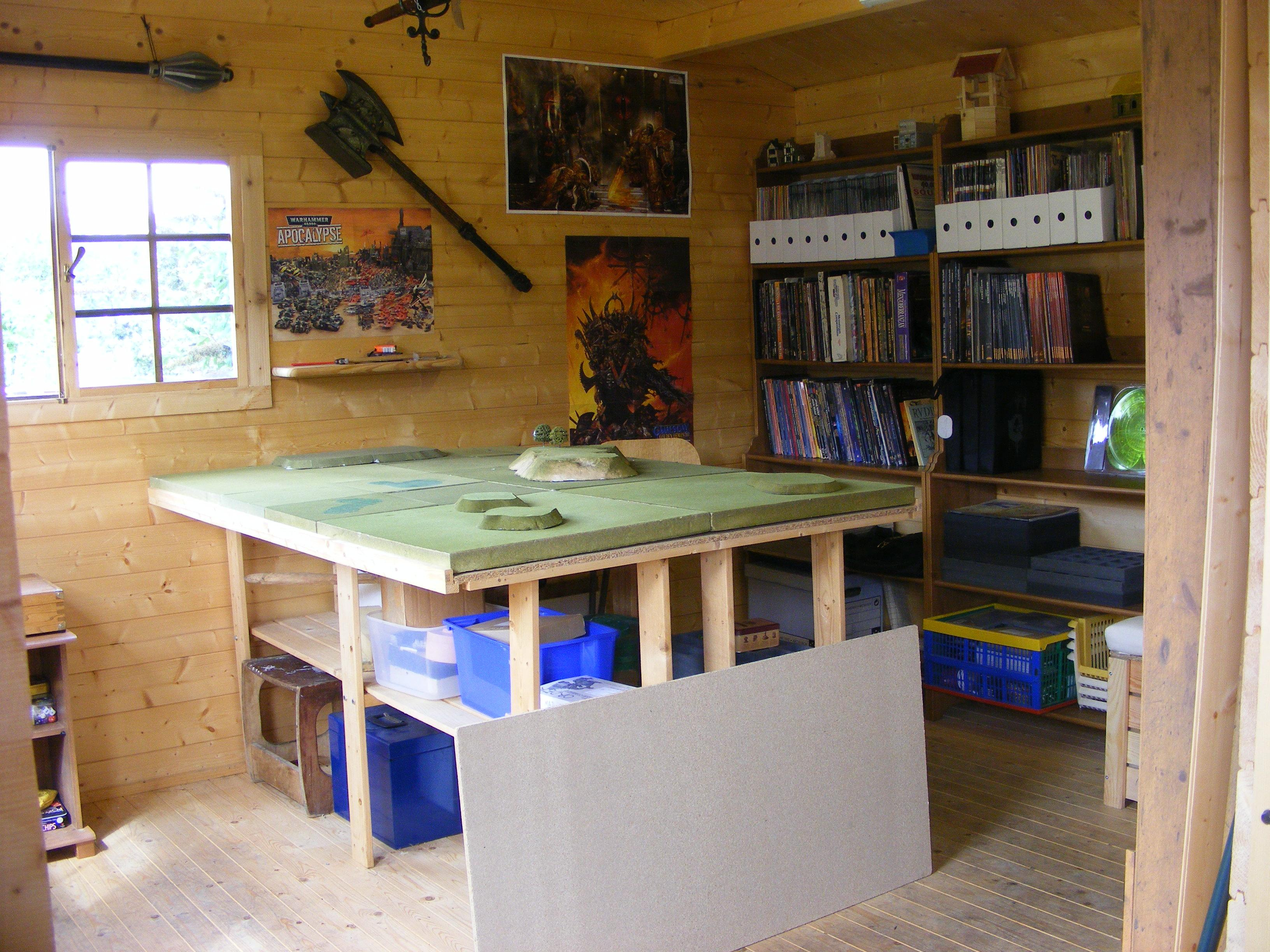 Den, Game Table, Painting Table