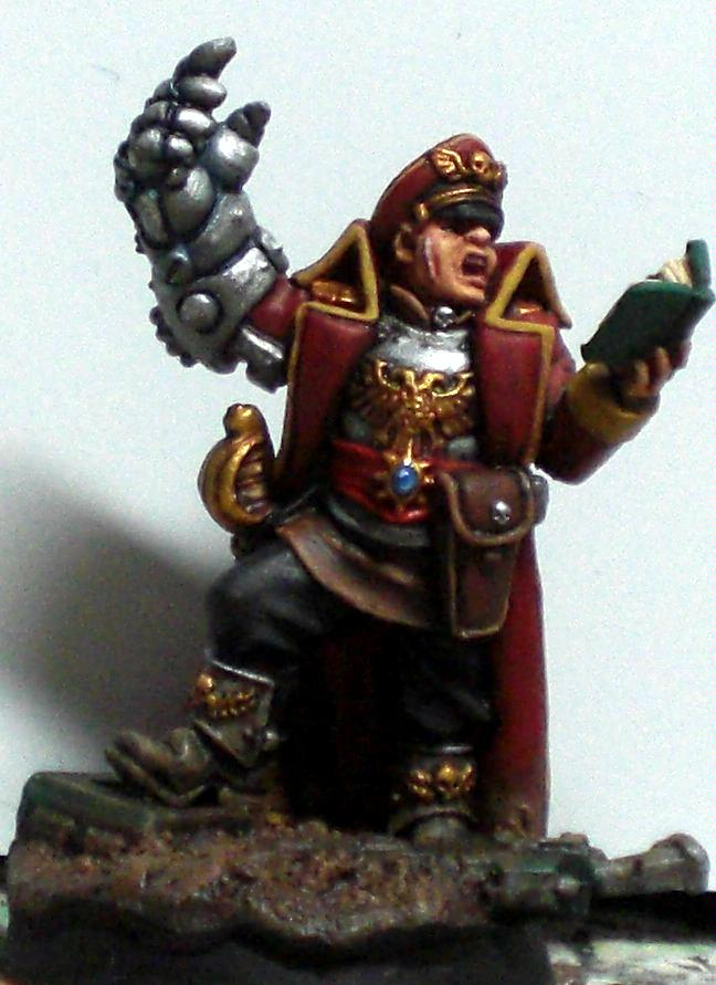 Commissar, Imperial Guard, Power Fist, Warhammer 40,000